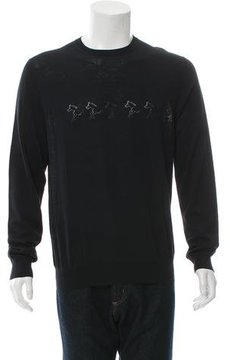 Hermes Pointelle Crew Neck Sweater
