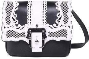 Paula Cademartori Gigi Lace Bi-color Leather Shoulder Bag