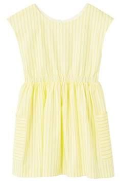 MANGO Cut-out striped dress