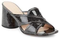 Marc Jacobs Aurora Glitter Block Heel Sandals