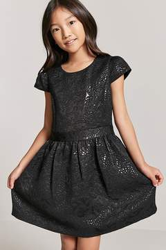 Forever 21 Girls Metallic Pattern Dress
