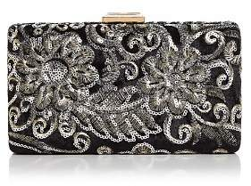 Sondra Roberts Medium Sequin Brocade Satin Box Clutch