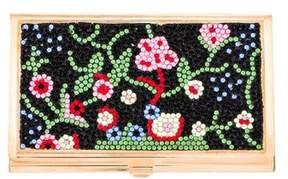 Judith Leiber Crystal-Embellished Card Case
