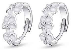 Alpha A A designer Inspired Mutli Row Heart Earrings