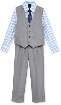 Nautica 3-Pc. Sharkskin Vest, Shirt & Pants Set, Little Boys (4-7)