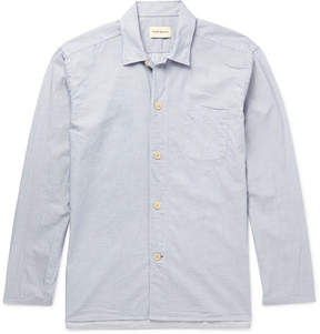 Oliver Spencer Loungewear Striped Cotton Pyjama Shirt