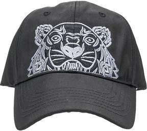 Kenzo Tiger Canvas Black Cotton Cap