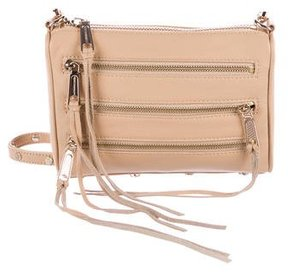 Rebecca Minkoff Leather 5-Zip Crossbody Bag - NEUTRALS - STYLE