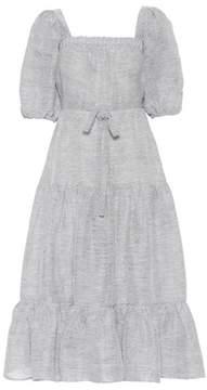Co Linen and silk dress