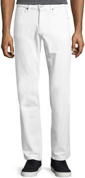 DL1961 Premium Denim Straight-Leg Denim Jeans, White
