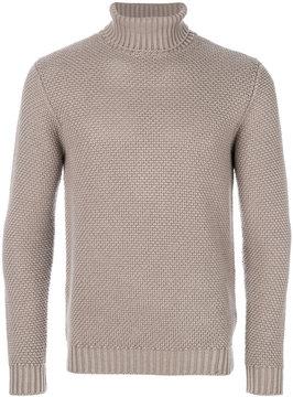 Lardini waffle knit turtleneck sweater