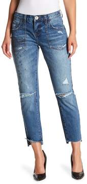 One Teaspoon Awesome Baggies Raw Step Hem Jeans