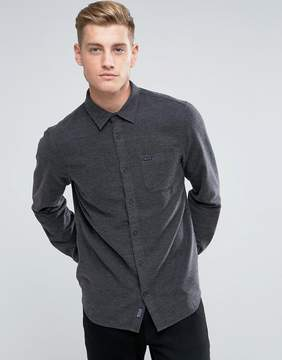 Jack Wills Somerby Regular Fit Textured Flannel Shirt In Charcoal