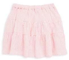 Oscar de la Renta Little Girl's and Girl's Seersucker Cotton Skirt