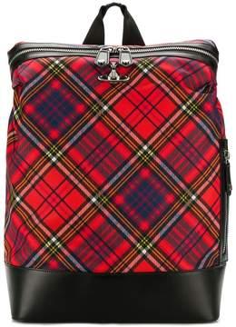 Vivienne Westwood tartan logo backpack