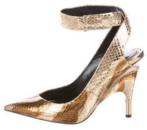Tom Ford Snakeskin Metallic Pumps