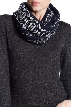 Joe Fresh Metallic Print Knit Loop Scarf