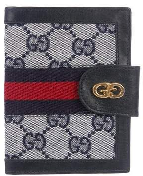 Gucci Vintage GG Canvas Card Holder