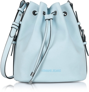 Armani Jeans New Light Blue Eco Leather Bucket Bag