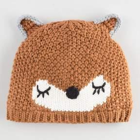 World Market Light Brown Sleepy Bear Hat