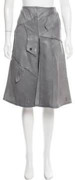 Collection Privée? Leather A-Line Skirt