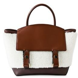 Sacai Medium Hybrid Shearling & Leather Tote