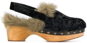 Mou slingback wood mules