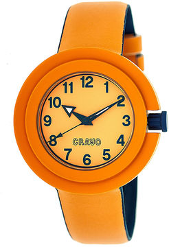Crayo Womens Equinox Orange Strap Watch Cracr2802