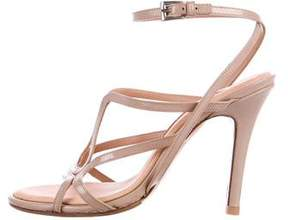 Barbara Bui Patent Leather Ankle Strap Sandals