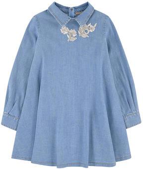 Ermanno Scervino Embroidered jean dress