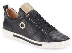 Alessandro Dell'Acqua Perforated Leather Sneakers