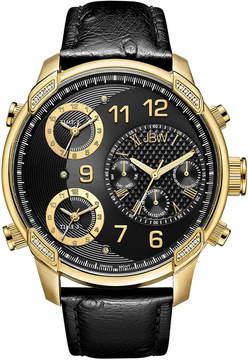 JBW Diamond Mens Black Strap Watch-J6353c