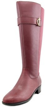 Isaac Mizrahi Senso Wide Calf W Round Toe Leather Knee High Boot.