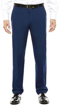 Jf J.Ferrar Men's JF Blue Stretch Flat-Front Super Slim-Fit Suit Pants