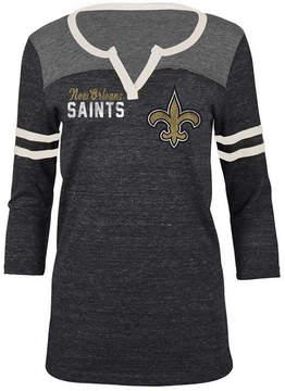 5th & Ocean Women's New Orleans Saints V-Notch Raglan T-Shirt