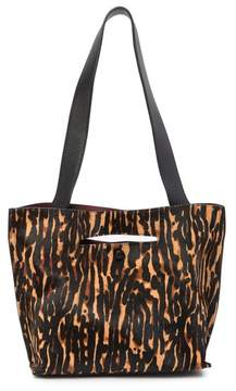 Sondra Roberts FUR Medium Leather Tote Bag