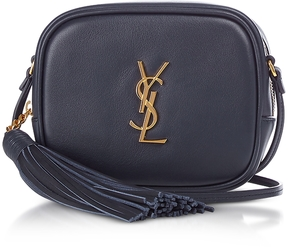 Saint Laurent Signature Leather Blogger Shoulder Bag - BLUE - STYLE