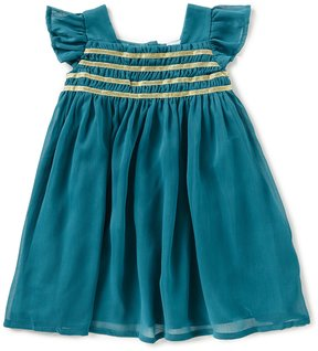 Edgehill Collection Baby Girls 12-24 Months Short-Sleeve Smocked Dress
