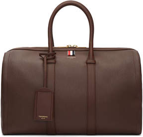 Thom Browne Brown Unstructured Holdall Bag