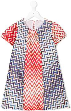 Missoni Kids metallic zigzag shift dress