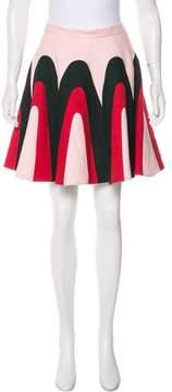 DELPOZO Linen Knee-Length Skirt