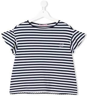 Miss Blumarine TEEN striped T-shirt