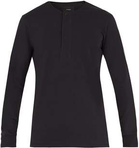 Lemaire Long-sleeved cotton henley top