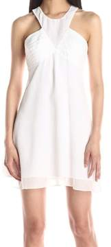 BCBGeneration Women's Empire Waist Dress, Optic White, 2