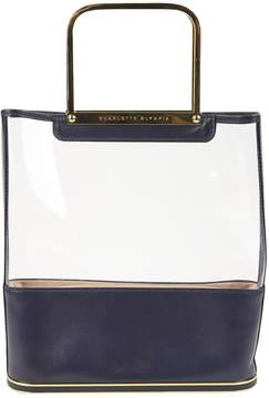 Charlotte Olympia Navy Leather Handbag