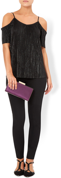 Grace Plum Satin Clutch Bag