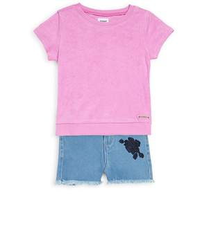 Hudson Little Girl's Two-Piece Tee and Shorts Set