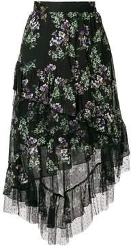 Blumarine asymmetric floral skirt
