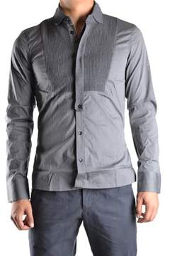 Dirk Bikkembergs Men's Grey Cotton Shirt.