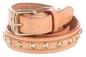 Louis Vuitton Studded Vachetta Belt
